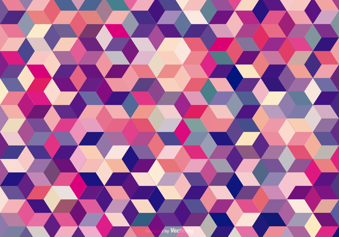 Abstract Colored Cubes Background