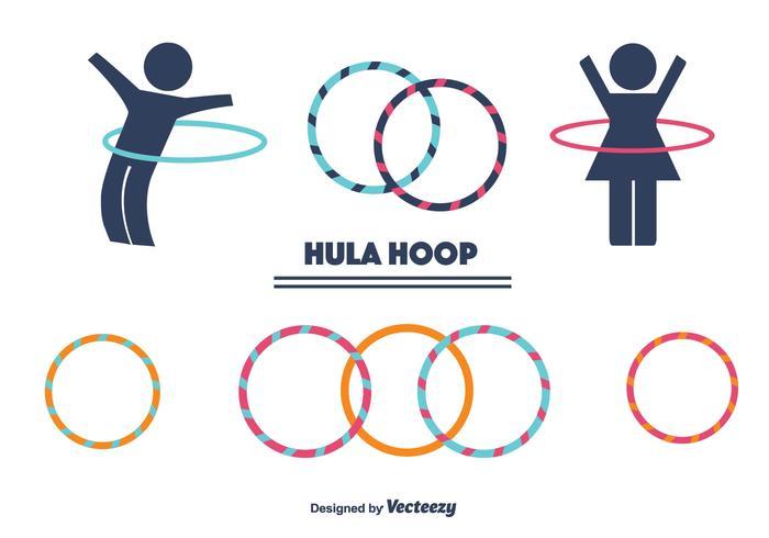 Hula Hoop Vector Set