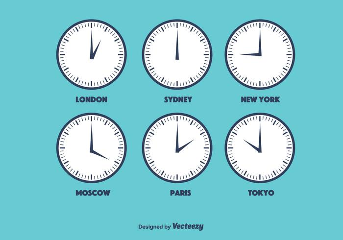 Time Zone Vector