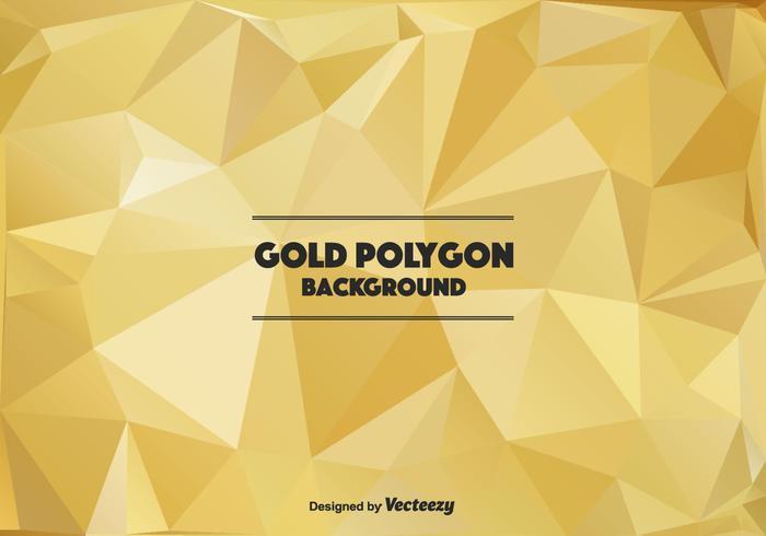 Polygonal Guld Vector Bakgrund