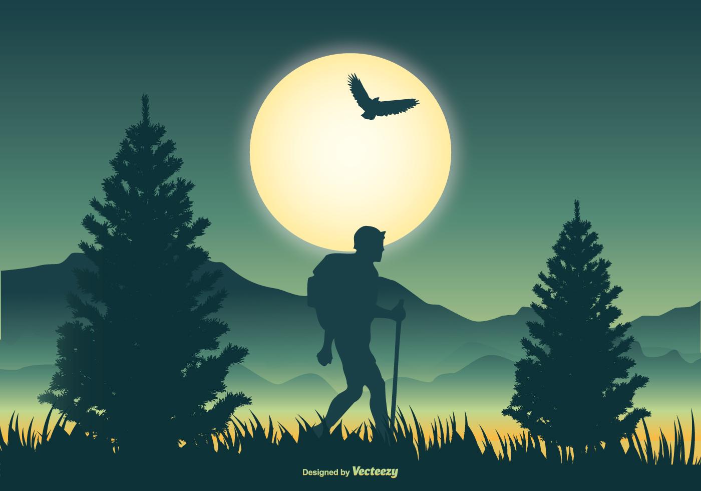Mountaineer Scene Vector Illustration Download Free