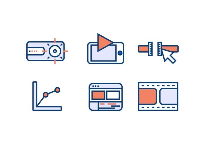 VIDEO EDITING VECTOR ICONS
