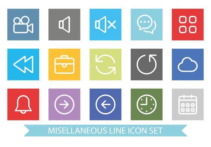 Flat and Clean Miscellaneous Icon Set