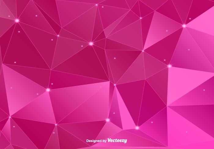 Pink Polygonal Vector Background