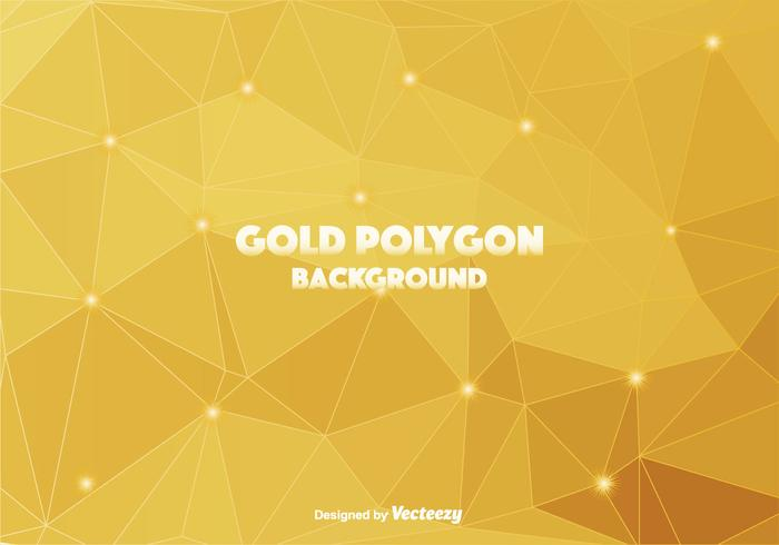 Gold Polygonal Vector Background
