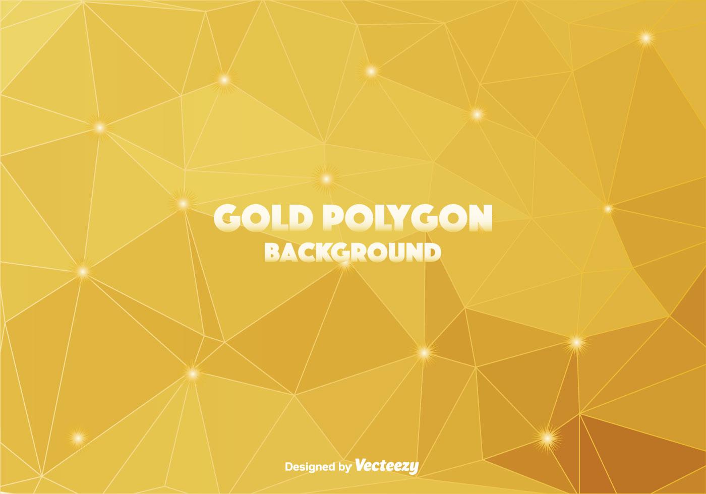 Gold Polygonal Vector Background - Download Free Vectors ...