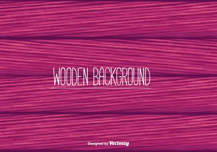 Pink Wooden Background Vector