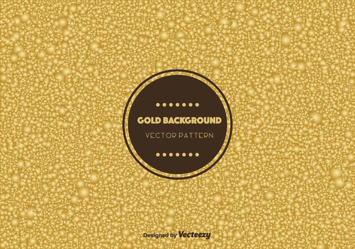 Gold Bubble Background Vector