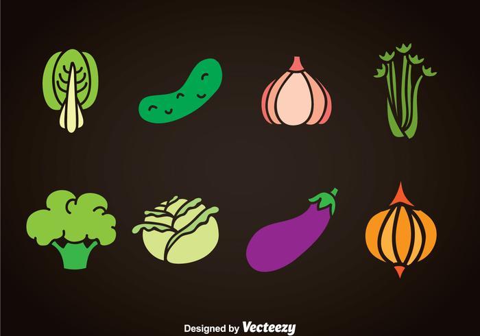 Grönsaker vektor uppsättningar