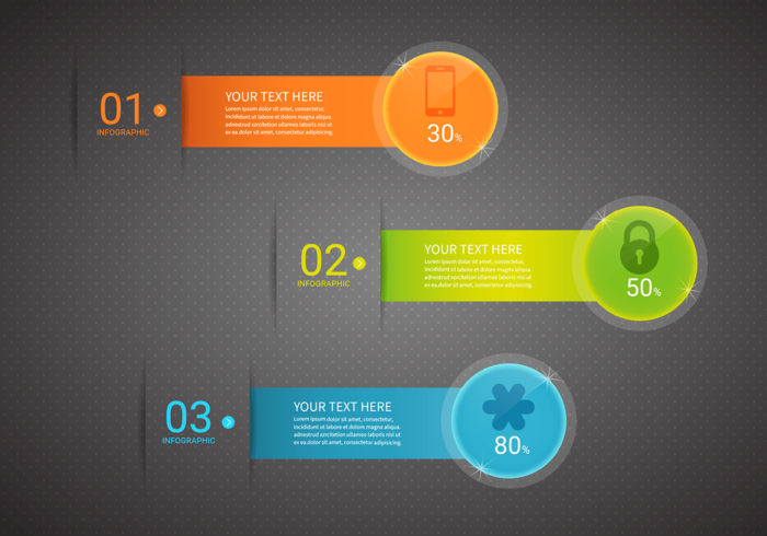Customizable Bright Infographics Vector