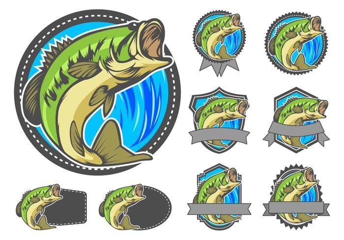 Largemouth Bass Badge Vector