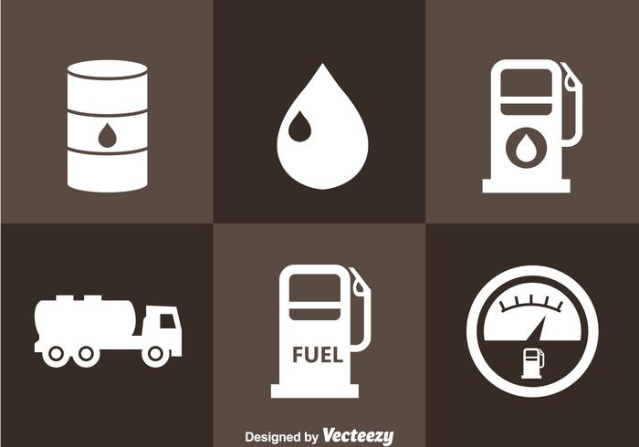 Gasoline Station Icons vector