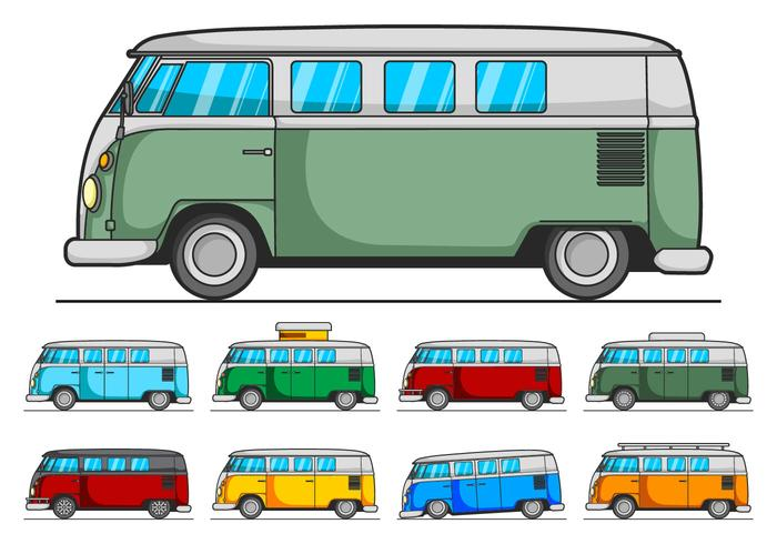VW Camper Vector Pack