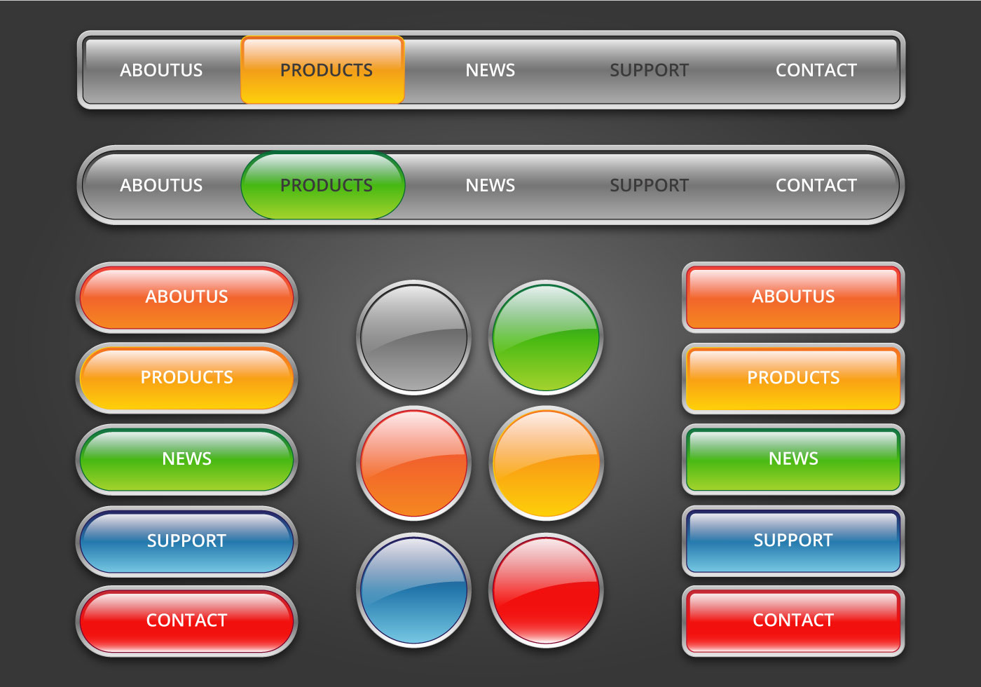 buttons free vector art