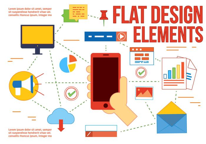 Free Flat Design Vector Elements and icons