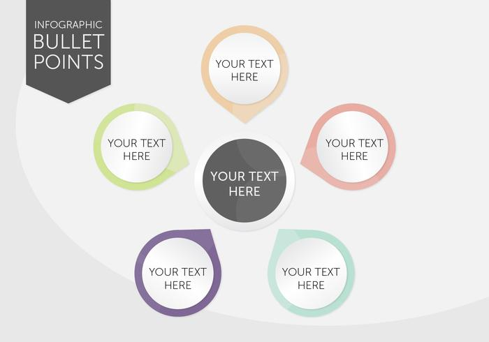Infographic Bullet Points vector