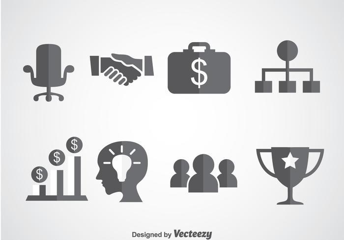 Vector d'icônes de démarrage d'entreprise
