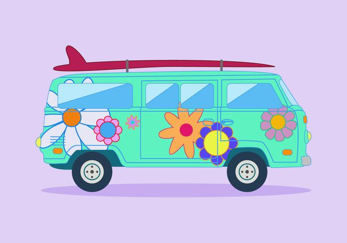 Free Hippie Bus Vector