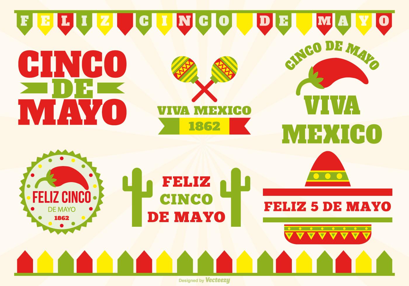 ... de Mayo Label Set - Download Free Vector Art, Stock Graphics & Images