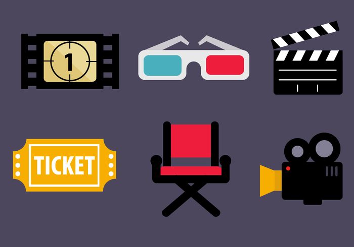free cinema icons vector download free vector art stock graphics