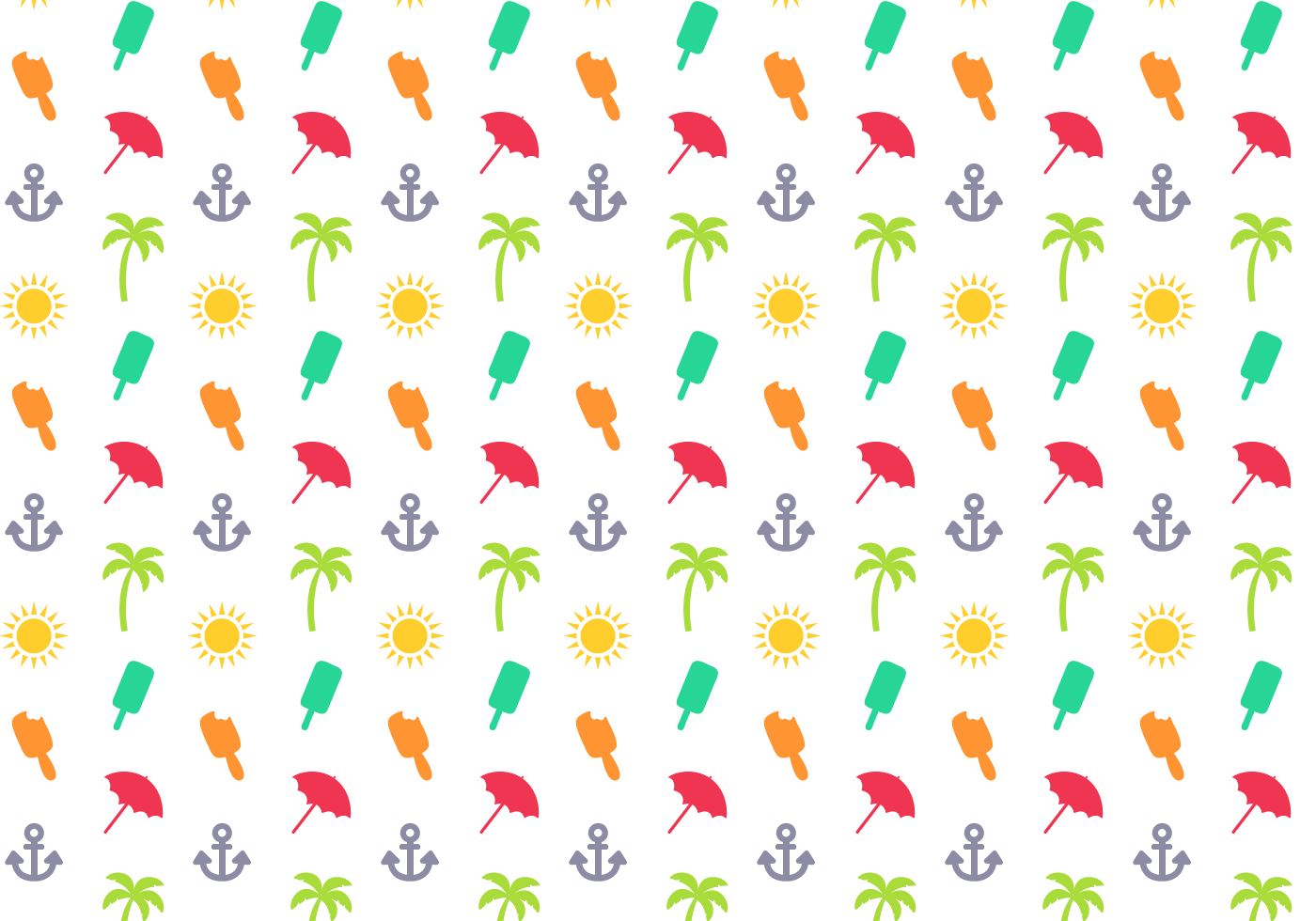 Free Summer Pattern Vector - Download Free Vector Art ...