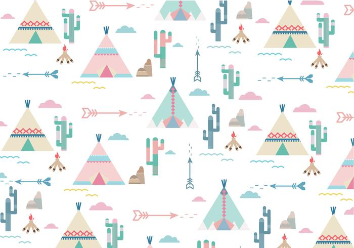 Tepee patroon vector