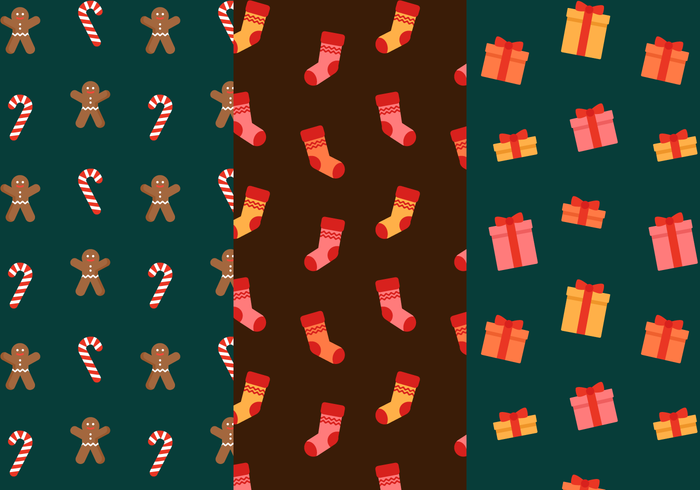 Vector de Padrão de Natal grátis