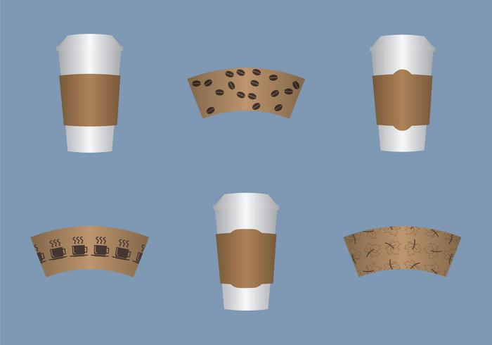Free Coffee Sleeve Vector Illustration