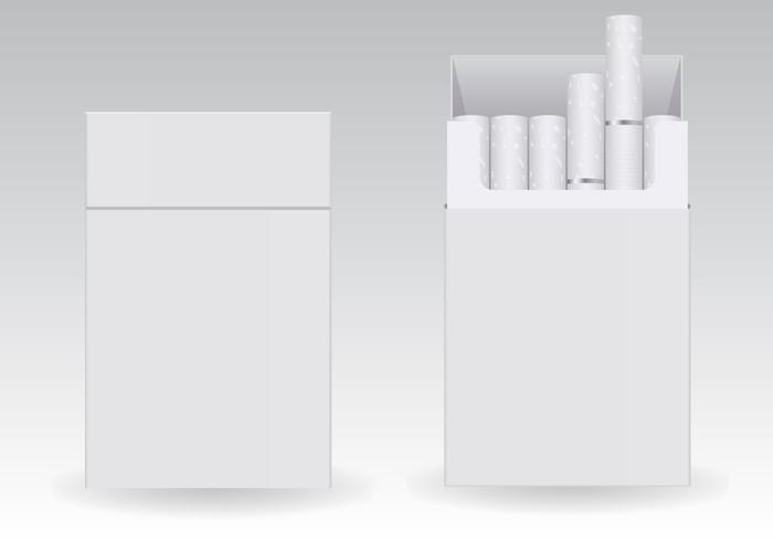 Free Cigarettes Blank Packs Vector