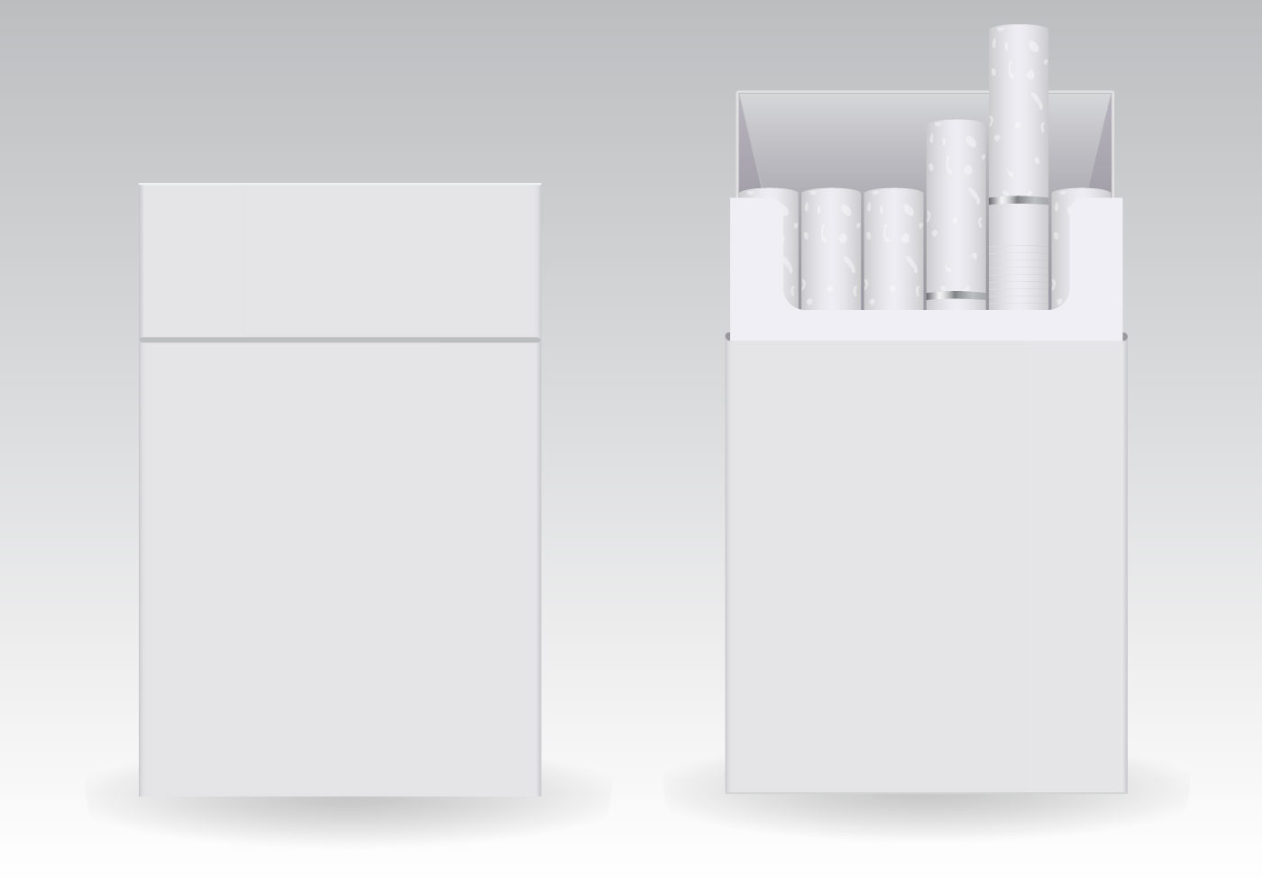 Free Cigarettes Blank Packs Vector - Download Free Vector Art, Stock ...