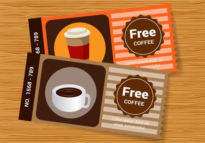 Vettore di manica caffè gratuito