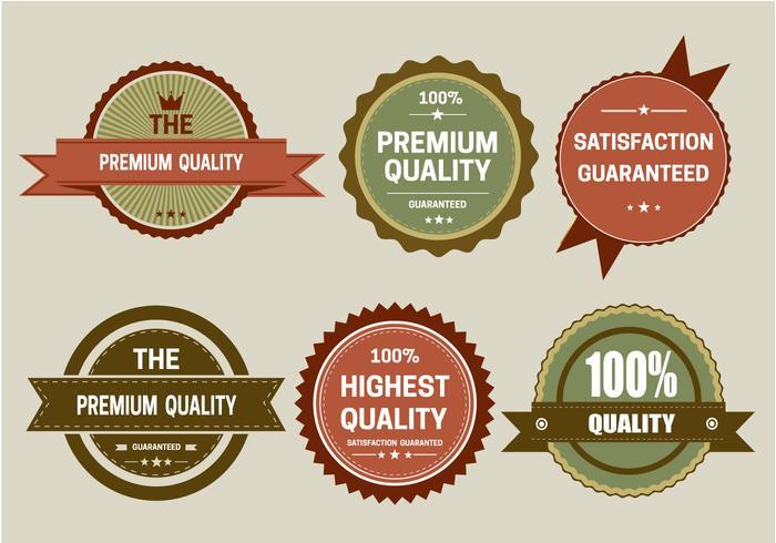 Vecteur d'étiquettes rétro vintage gratuit