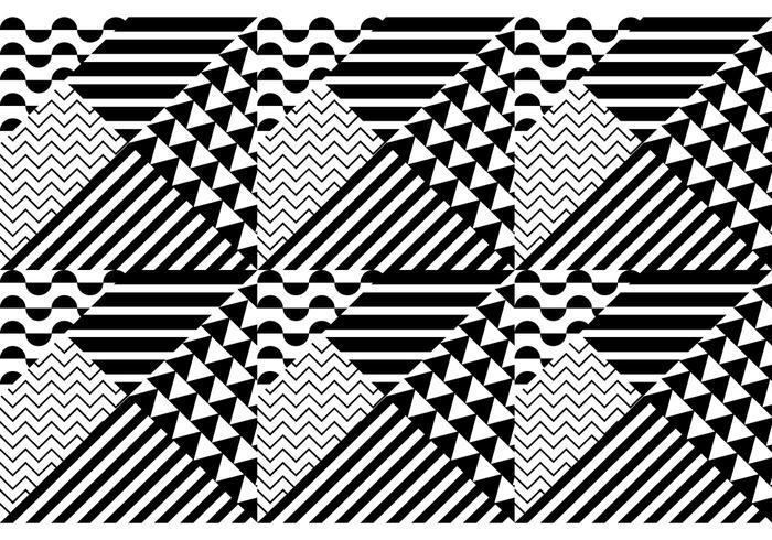Sömlöst mönster bauhaus vektor