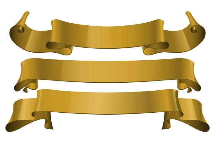 free gold realistic ribbon vector download free vector art stock