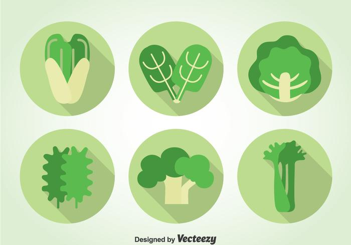 Green Vegetables Icons vector