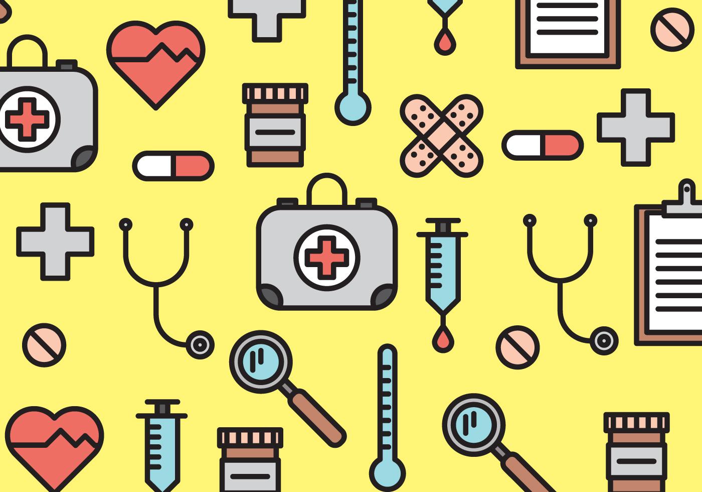 medical elements pattern vector
