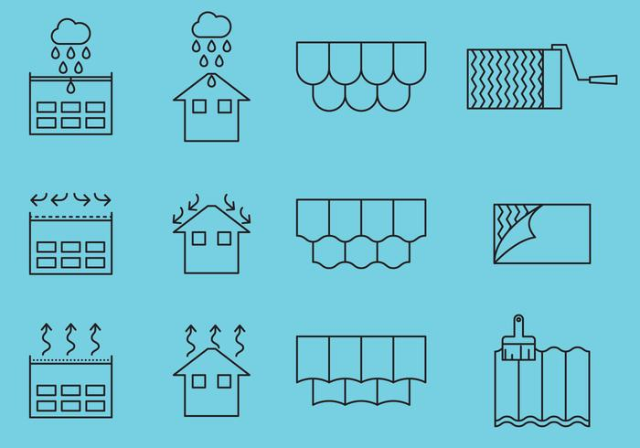Roof Repair Icons