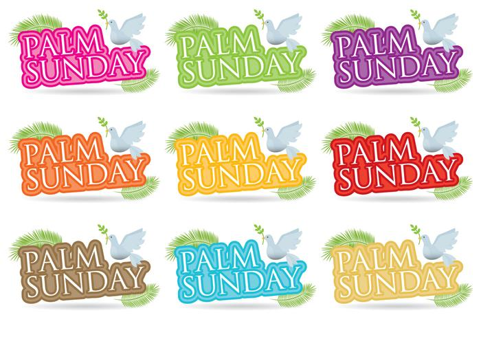 Palm Sunday Titles vector