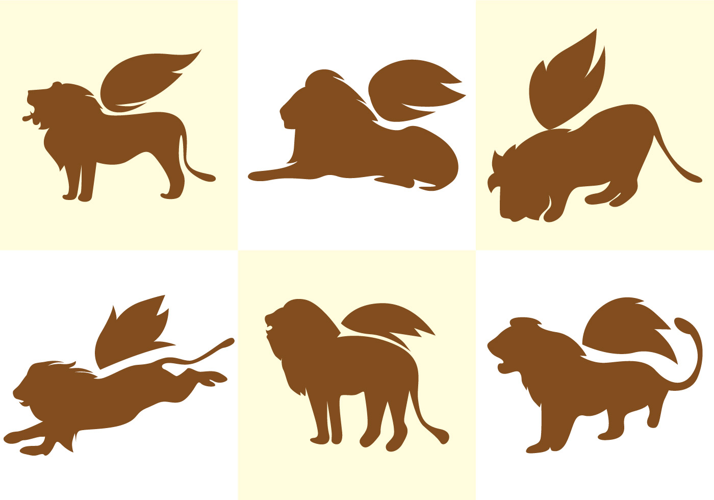 Winged Lion Vector Download Free Vector Art Stock