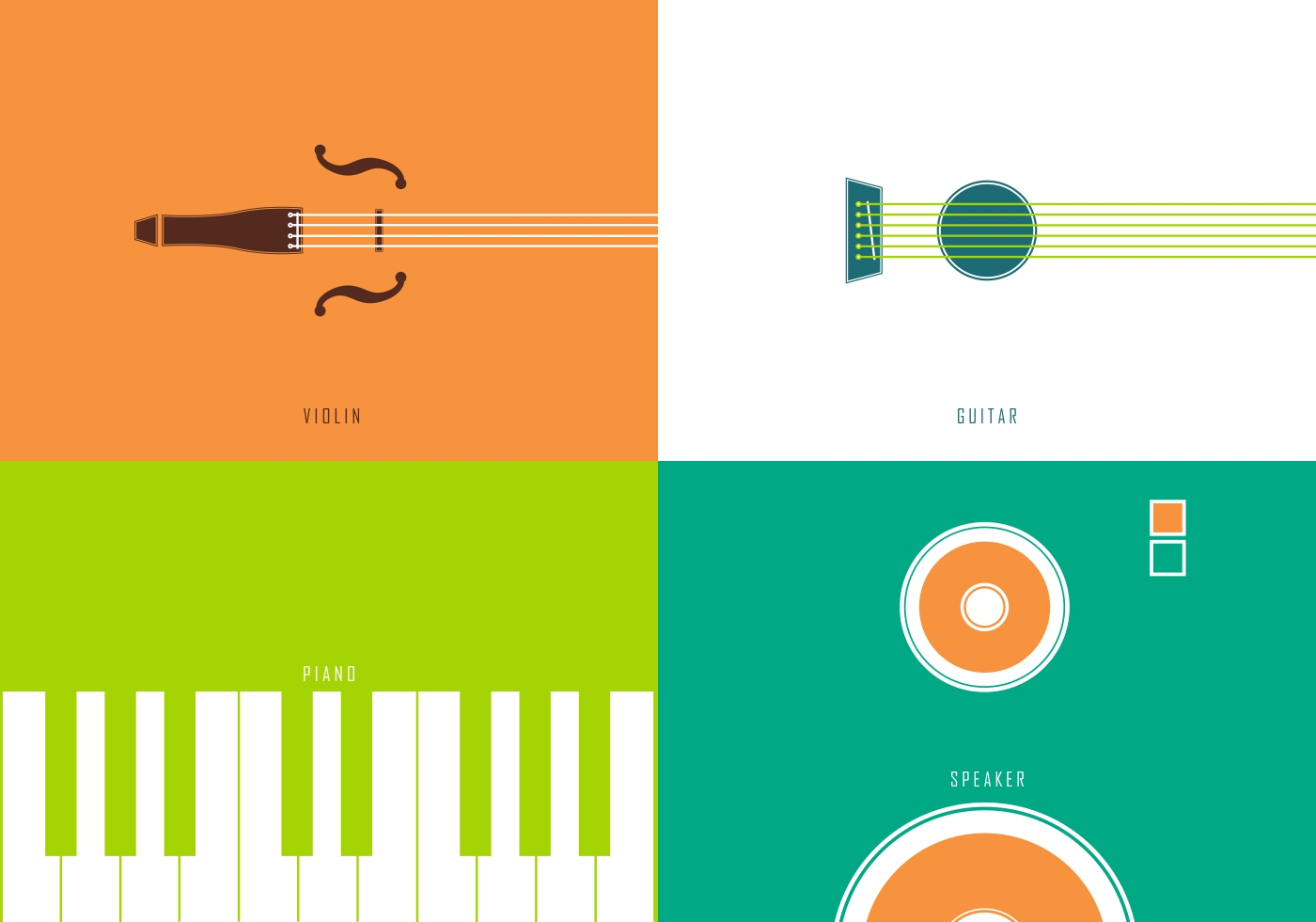 Minimal music instrument vectors download free vector for Minimal art vector