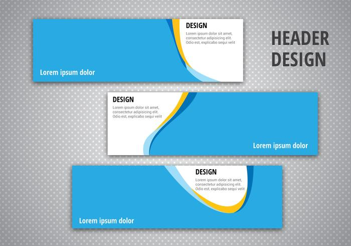 Gratis Header Designs Vector