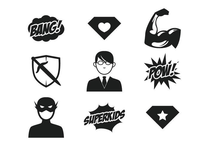 Icona di supereroi per bambini vettore