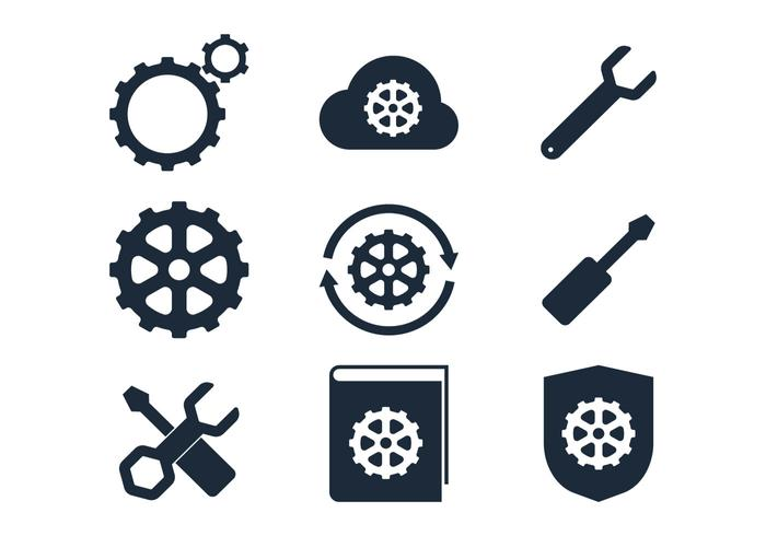 Black Sprocket Icon vector