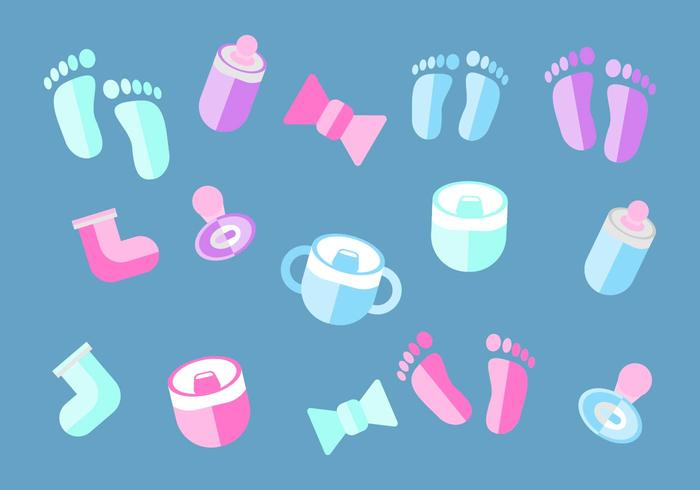Free Baby Deco Elements Vector