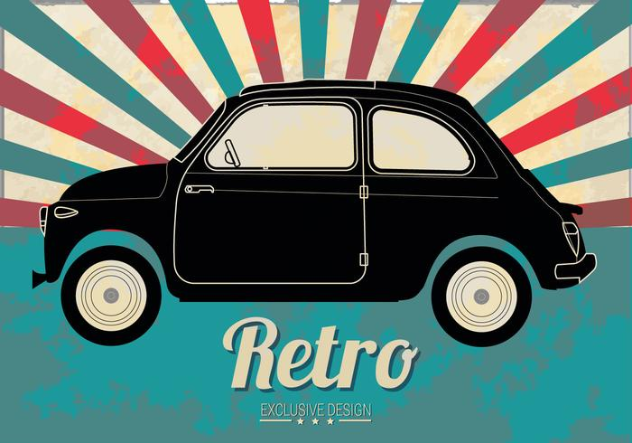 Free Line Old Car Vector