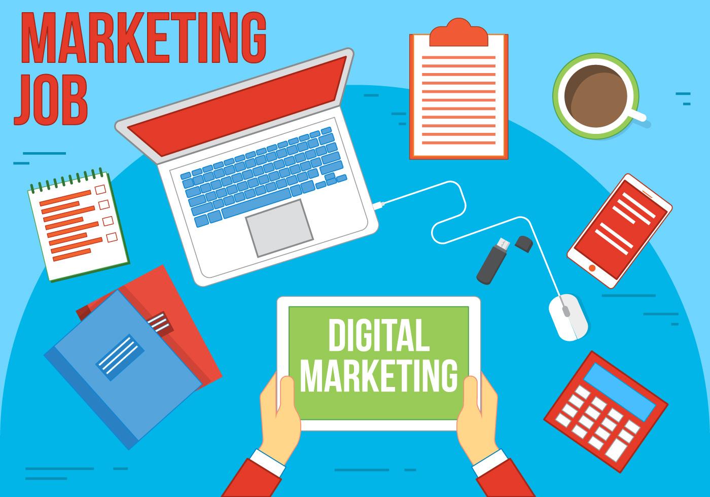 free vector marketing illustration