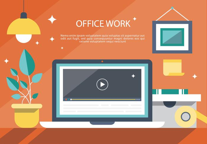 Modern Office Interior Vector Background
