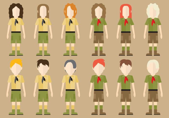 Pojke Scout Tecken