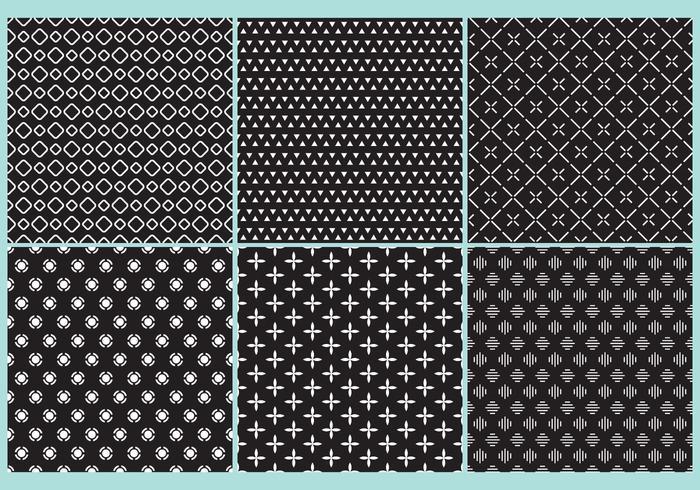 Schwarz-Weiß-Muster-Vektoren