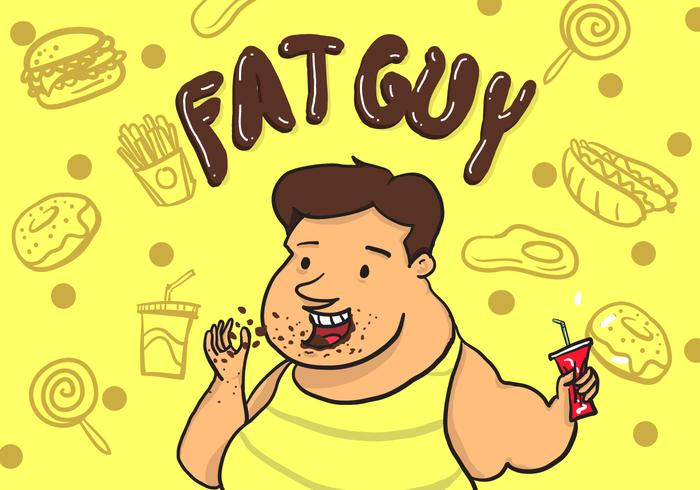 Fat Guy Vector